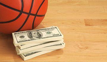 money on basket ball
