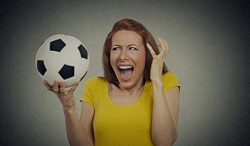 angry football lady