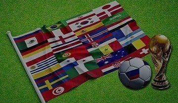 World cup 2018 flags