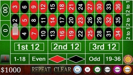 roulette board full