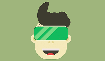 kid with vr glasses