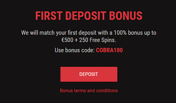 cobracasino welcome bonus